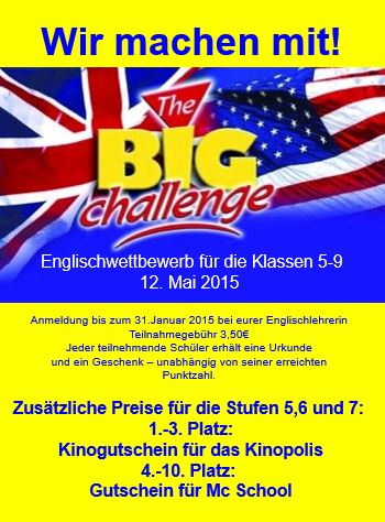 Poster Big challenge